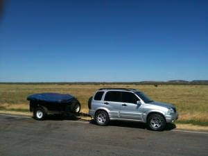 Suzuki Grand Vitara Towing Camper Trailer