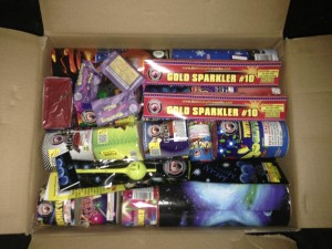The box of fireworks I was legally allowed to buy.