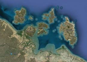 sir edward pellew islands map