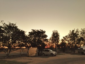 Camping at Winton