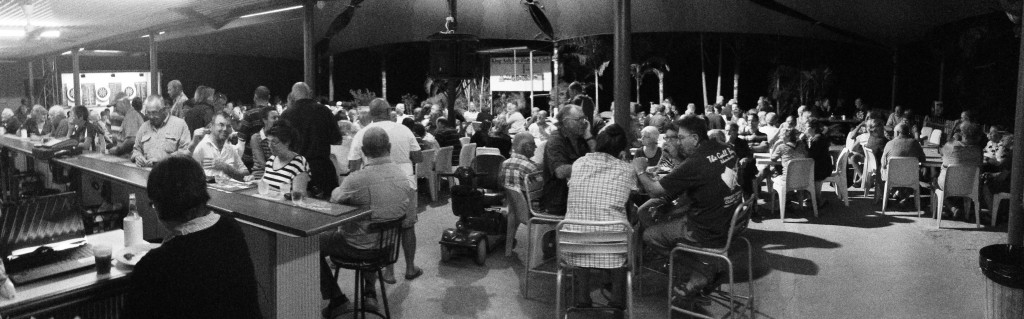 Plenty of people at the bar on Tuesday nights for the members draw.