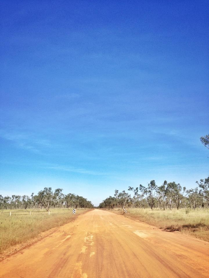 The road to Borroloola during the dry season