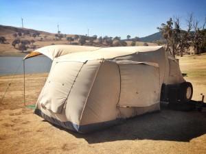 Carcoar Dam Windy Camping