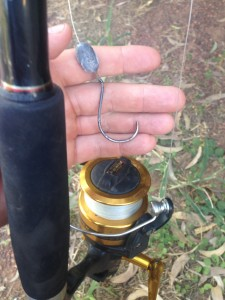 Broken fishing hook