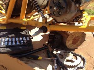 Go kart repairs bearing