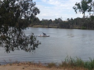 Waterskiing Murray River